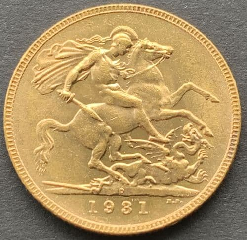 1931 Gold Sovereign Perth  Mint Scarce
