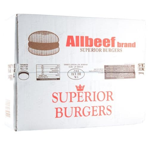 Allbeef Burger 80% 4oz x 48