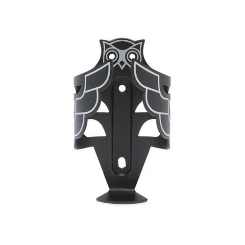 pdw Owl Bottle Cage Black & Silver