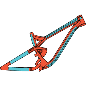 RideWrap Covered Protection - Dual Suspension MTB Frame Kit