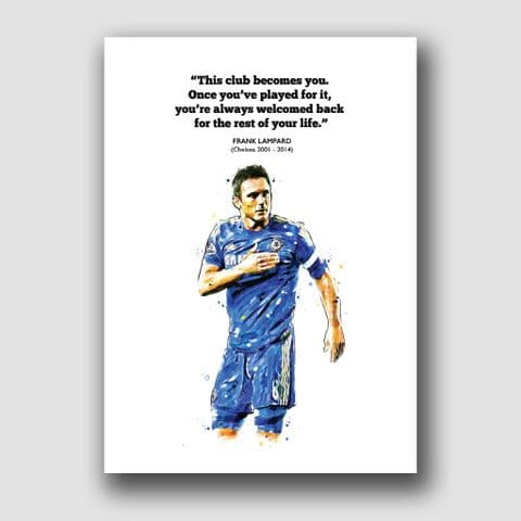 CHELSEA - FRANK LAMPARD QUOTE