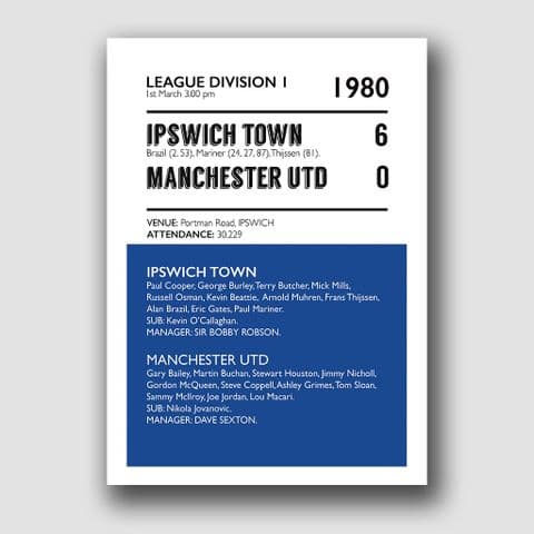 IPSWICH TOWN V MANCHESTER UNITED
