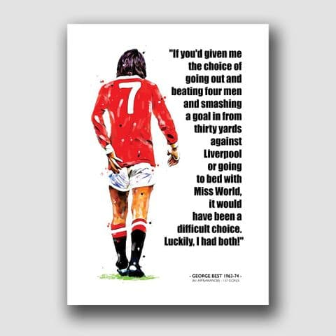 MANCHESTER UNITED - GEORGE BEST QUOTE!