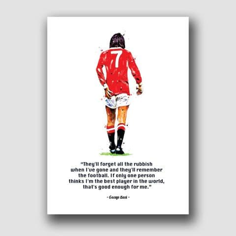 MANCHESTER UNITED - GEORGE BEST QUOTE (1)
