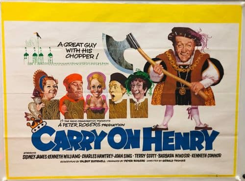 Carry On Henry UK British Quad (1971) Original Film Poster