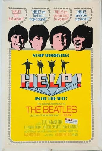 Help! US One Sheet Linen Backed (1965) Original Film Poster The Beatles