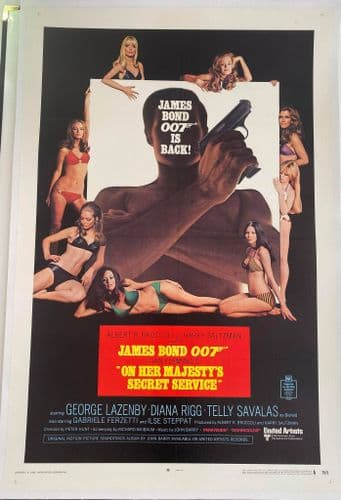 On Her Majesty's Secret Service LINEN BACKED style A US One Sheet (1969) Original Film Poster Bond