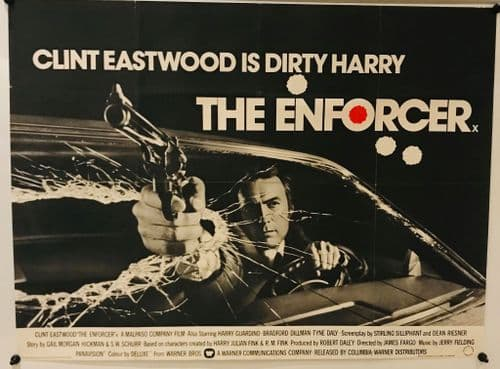 The Enforcer UK Quad (1977) Original Film Poster Full Text Style