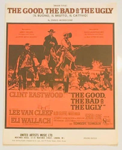 The Good, The Bad And The Ugly Music Sheet (1968) Piano Solo