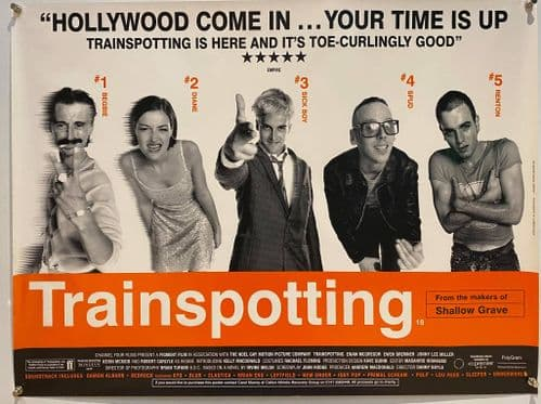 TRAINSPOTTING DS British Quad 1996 heroin addict Ewan McGregor, directed by Danny Boyle