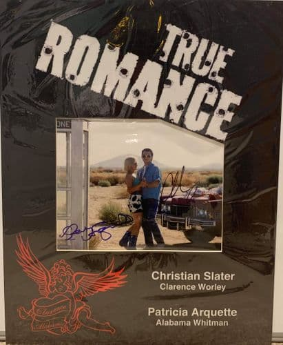 True Romance SIGNED picture (Original) Christian Slater and Patricia Arquette