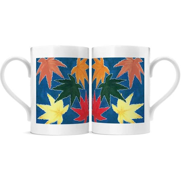 Autumn Leaves - Porcelain Mug 10oz