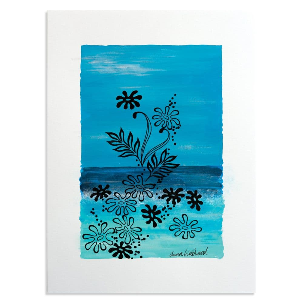 Tropical Blue Acrylic Painting