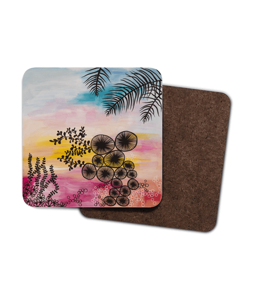 Tropical Heat Coaster 4 Pack
