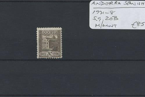 Andorra-Spanish 1931-8 SG.20B M/M (Lot 2)