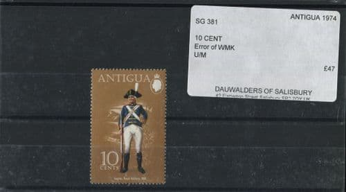 Antigua 1974 SG.381 10c Error of Watermark U/M