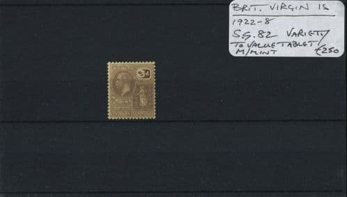 British Virgin Is. 1922-8 SG.82var M/M