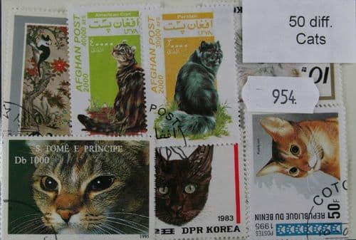 Cats IV 50 Stamps (954)