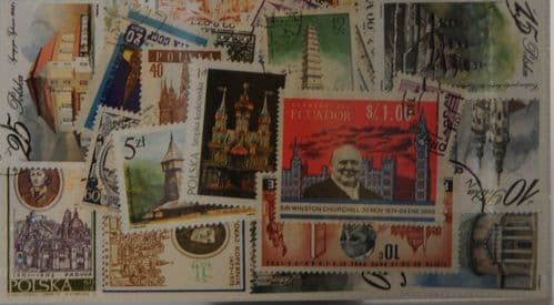 Churches 25 Stamps (M50)