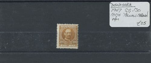Denmark 1907 SG.130 100ö Yellow-Brown M/M