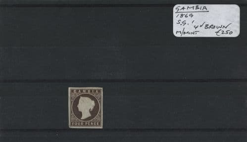 Gambia 1869 SG.1 M/M