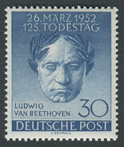 Germany 1952 SG.B87 Beethoven Mounted Mint