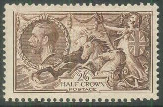 KGV Re-engraved Sea Horses SG450-452 (2/6d-10/-) Good-Fine Used (Ref ES118)