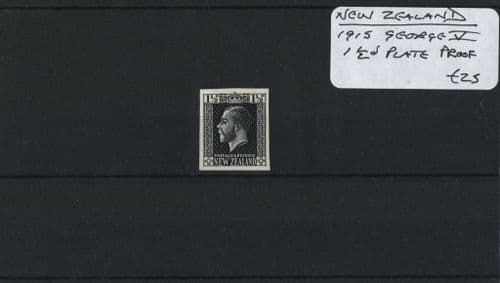 New Zealand 1915 George V 1½d Plate Proof (Lot 2)