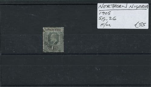 Northen Nigeria 1905 SG.26 F/U