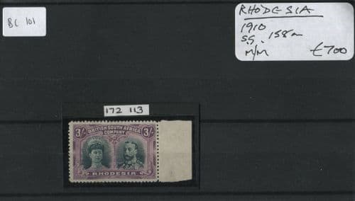 Rhodesia 1910 SG.158a M/M with Cert.