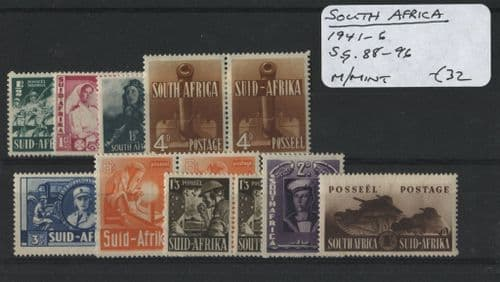 South Africa 1941-46 SG.88-96 M/M (Lot 2)