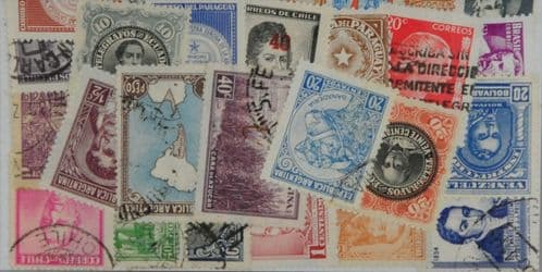 South America 25 Stamps (L352)