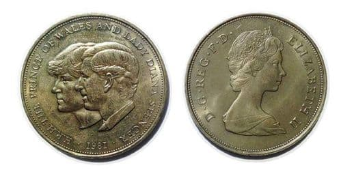 The Prince Of Wales And Lady Diana Spencer Commemorative crown coin from 1981