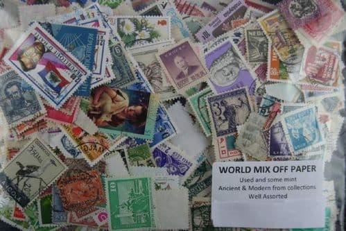 Worldwide Mix Off Paper. Approx 1500 Stamps