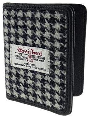 Authentic Harris Tweed Black Dogtooth Credit Card Holder