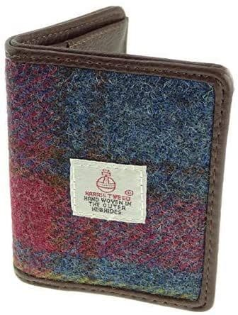 Authentic Harris Tweed Multi Colour Check Credit Card Holder
