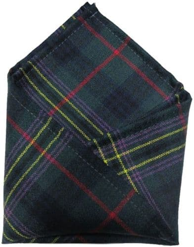 Gents Pure Wool Kennedy Tartan Pocket Square - Made In Scotland