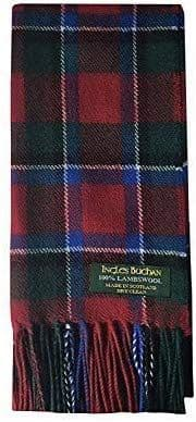 Pure Lambswool Sinclair Red Tartan Scarf By Ingles Buchan of Scotland