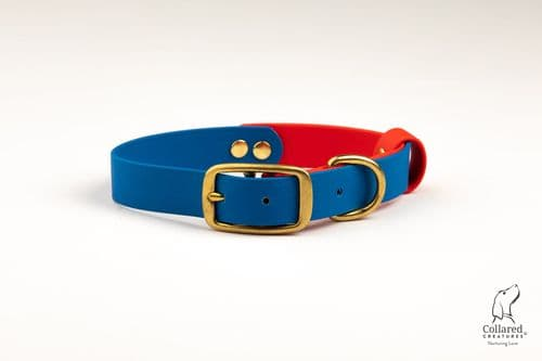 Blue & Red Waterproof Collar
