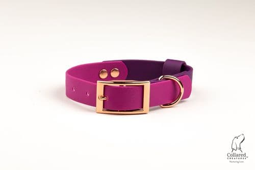 Magenta & Purple Waterproof Collar
