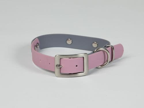 Pale Grey & Dusty Pink Waterproof Collar