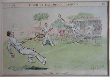 """""""Let it go, you ass!"""" DL Ghilchik Coloured (Punch, 1928 May 2nd)"""