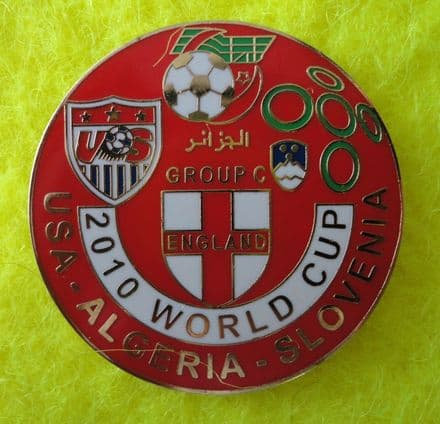 2010 World Cup England Group Enamel Pin Badge