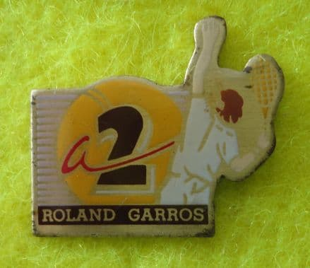 A2 Roland Garros Enamel Pin Badge