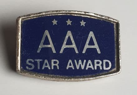 AAA Three Star Award Pin Badge