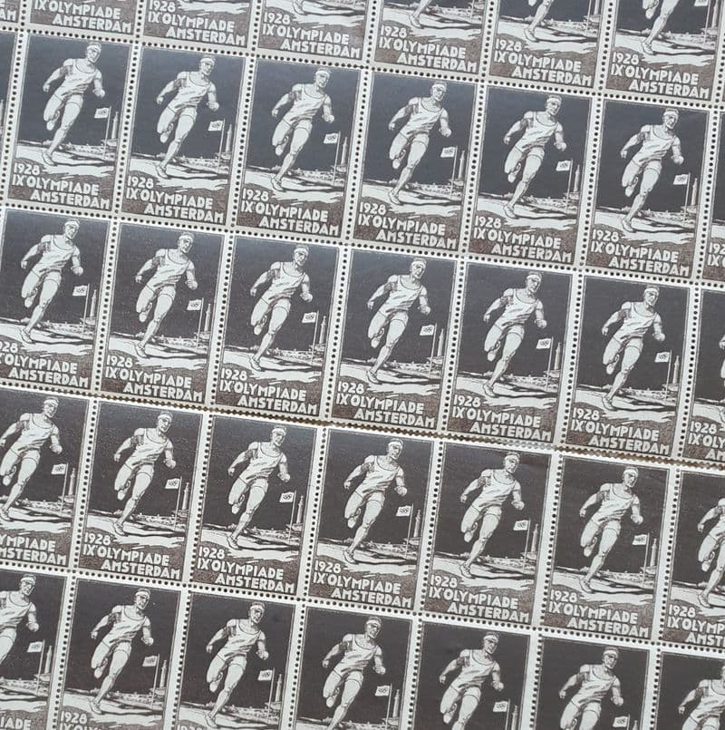 Amsterdam 1928 Official Poster Stamps (Sheet)