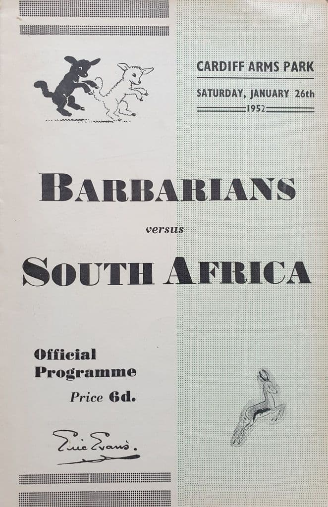 Barbarians v South Africa (1952, Jan 26th) Very Good