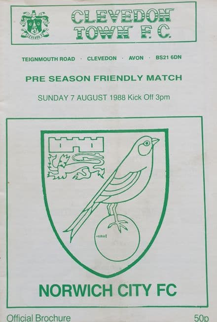 Clevedon Town v Norwich City (1988, August 7th)