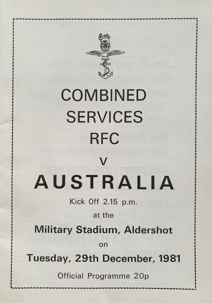 Combined Services v Australia (1981, December 29th)