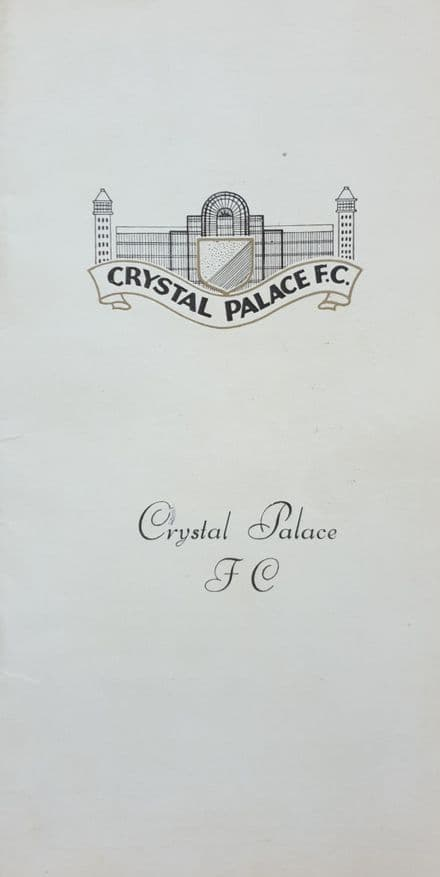 Crystal Palace v WBA, Div 1 (1970, Oct 17th)